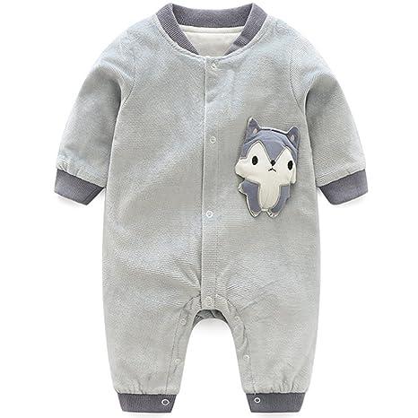 Bebé Recién Nacido Mameluco Manga Larga Pelele Algodón Trajes Zorro Ropa de Invierno Primavera Otoño 0