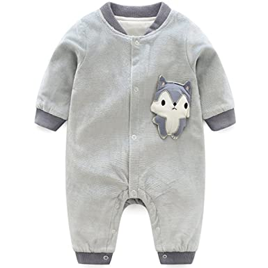 Super günstig erstklassiger Profi ein paar Tage entfernt Baby Overalls Baumwolle Strampler Jungen Mädchen Fuchs ...