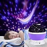 LED Star Projektor, Ubegood Projektor lampe um Romantische Nacht Lampe 360 Dreht Grad Sternenhimmel Projektor 4 pcs LED-Kornen Perfekt für Geburtstag, Parteien, Kinder Zimmer, Hochzeit (Purple)