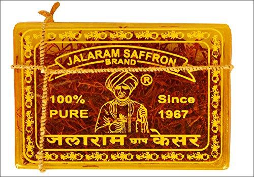 Jalaram Brand Saffron (Kesar) 100% Pure & Natural, 2 Gram by Jalaram Brand Saffron