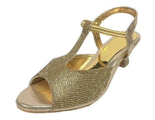 Step n Style Sandali Donna Oro Gold, Oro (Gold), 36