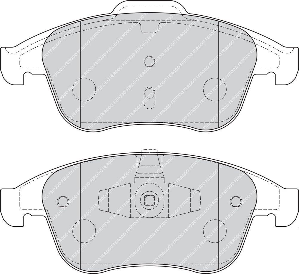 4-teilig 4 St/ück Scheibenbremse - Ferodo FDB4181 PREMIER Bremsbelagsatz -
