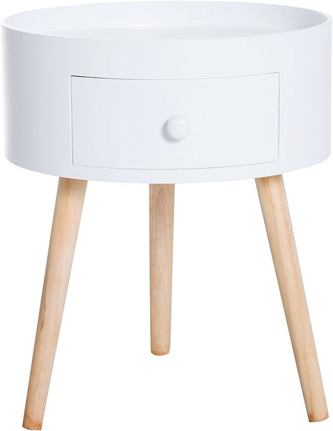 Tavolino Mobile da Salotto 30x38x64 cm Carrello Marrone Scuro Soggiorno Comodino con Cassettis Corridoio Adatto per Studia HOMECHO Tavolino da Letto con Ruote Industriale Struttura in Ferro