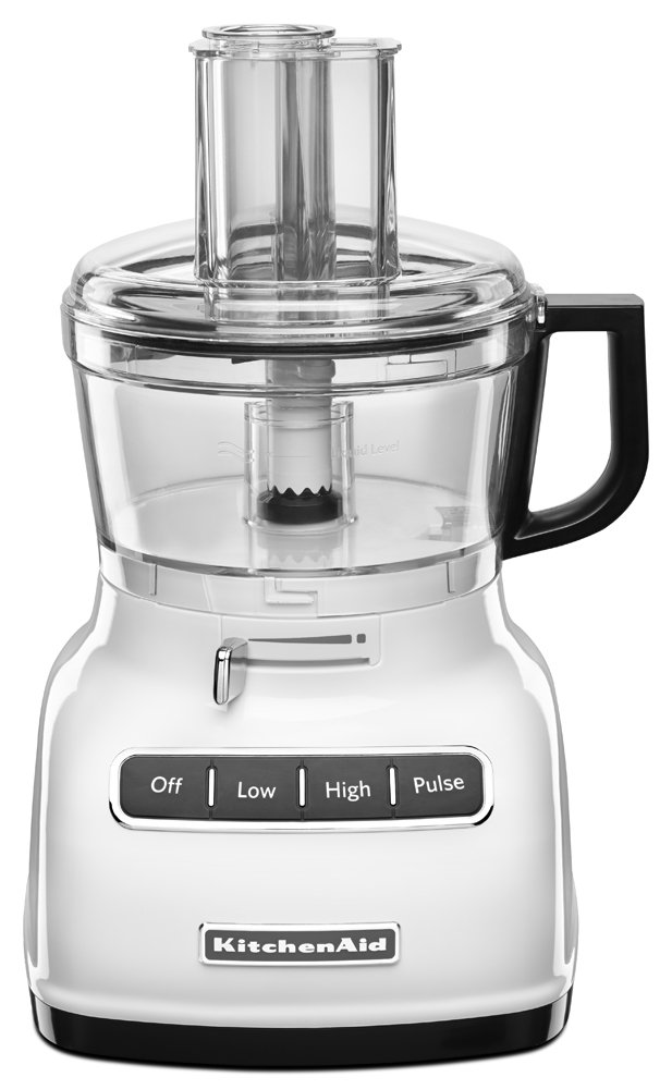 KitchenAid KFP0722CU 7-Cup Food Processor with Exact Slice System - Contour Silver KitchenAide Procesor Shredder Chop