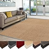 casa pura Sisal Rug | 100% Natural Fiber Area Rug | Non-Skid Eco-Friendly Throw Carpet for Entryway, Dining or Living Room | Various Colors and Sizes | Natural – 4'x6′ For Sale