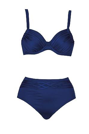 Opera Riffle Dots Bikini mit Formbügel 38 D Blau (26)