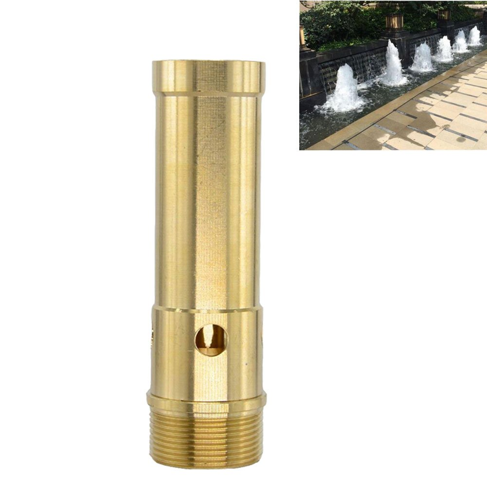 Thaoya Brass Column Fireworks Water Fountain Nozzle Sprinkler Spray Head Pond (G2)