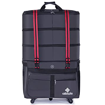 98e12b071c6 Image Unavailable. ailouis 36 Inch Expandable Extra Large Wheeled Travel  Duffel Luggage Bag (Black)
