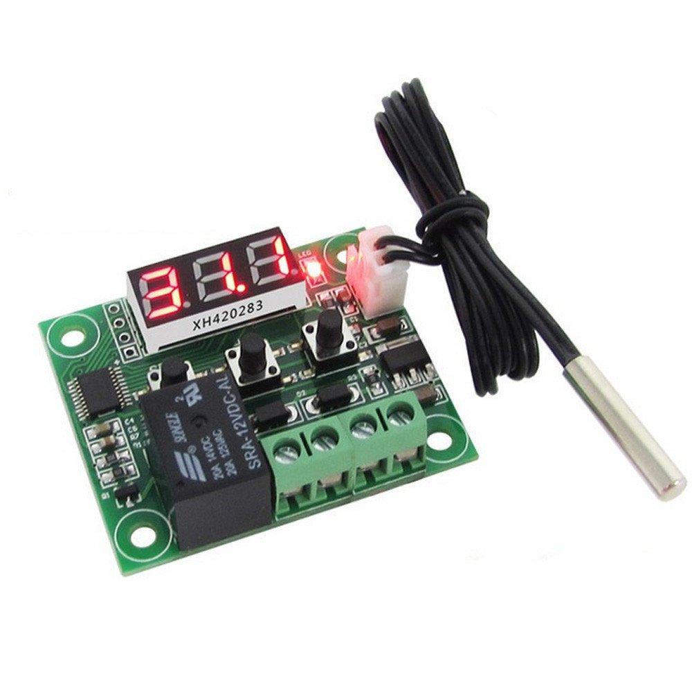 Regulador de Temperatura del Termóstato de la Pantalla LED de 12V digitaces con el Sensor de NTC_Regulador Auto de la Carga la Batería del Panel,regulador ...