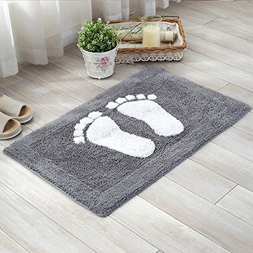 Modern Cartoon Footmat Chenille - MeMoreCool 100% Cotton Home Textile Healthy Life Idea Anti-slipping Door Mats 20 X 31 Inch 1 Piece (Room Joanna Gaines Ideas)