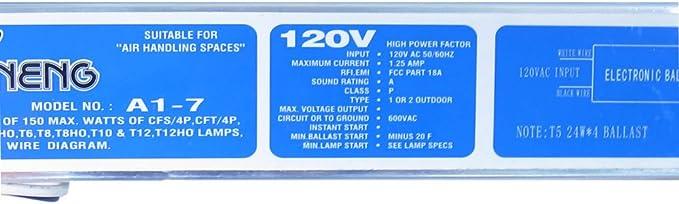 [SCHEMATICS_4CA]  WavePoint 4X 24W Electronic Ballast Model # A1-7 for 01001 & 01019 T5 HO  Fixtures - - Amazon.com   T6 Ballast Wiring Diagram      Amazon.com