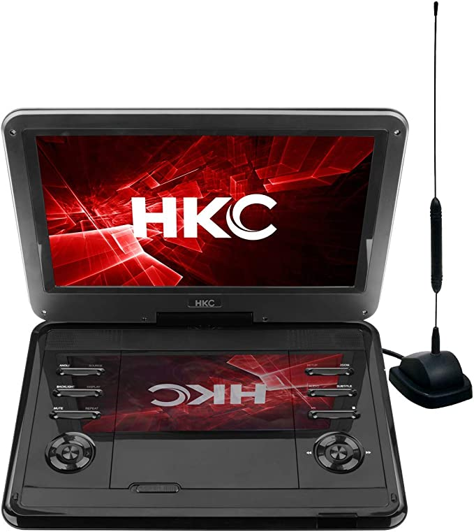 D12HBDT: TV portátil de 12 Pulgadas y Reproductor de DVD (HD Ready 1.366 x 768, batería incorporada, Ranura para Tarjeta SD, Puerto USB, Mando a ...
