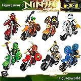 gonggamtop 8pcs Ninjago By Mottor Minifigures Ninjao Minifigs Building Block Toys Kids Gift