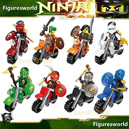 Diy Batman And Catwoman Costumes (gonggamtop 8pcs Ninjago By Mottor Minifigures Ninjao Minifigs Building Block Toys Kids Gift)