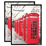MCS Trendsetter Poster Frame (2 Pack), 24 X 32-Inch, Black