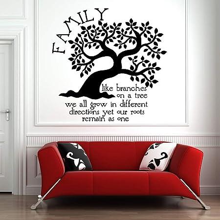 Viny lwall Cadre Citation Autocollant-Famille où la vie commence