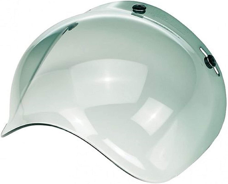 Transparent Jet Helmet Visor 3-button bubble replacement motorcycle