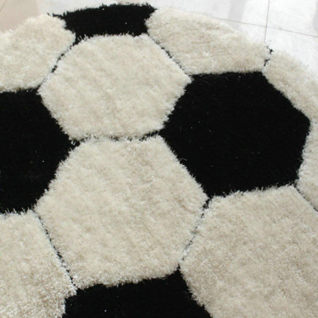 tapis de football Gar/çons et chambres denfants Tapis ronds Chaises dordinateur Tapis 100x100 cm, 120x120 cm Tapis taille : 100 * 100cm