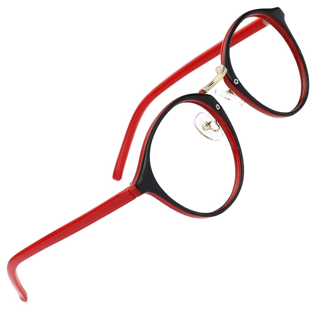 Slocyclub Fashion Round Eyewear Frame Eyeglasses Optical Frame Clear Lens Glasses 00063306