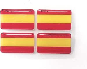 MoICar Bandera de España Sin Escudo 4 Pegatinas Adhesivo 3D ...