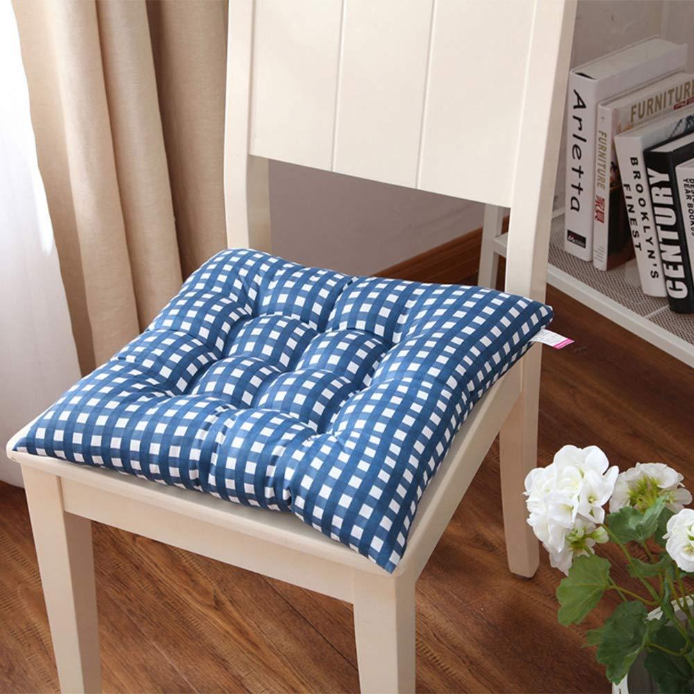 ZFM Cuscino Sedile Imbottito Set di 2 Cuscini per sedie Cuscini per sedie Cuscini per sedie da Giardino Cuscino per sedie con Cravatte,Brown,2pieceset