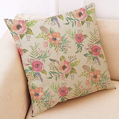 Amazon.com: VOYOAO – Funda de cojín de lino con diseño de ...