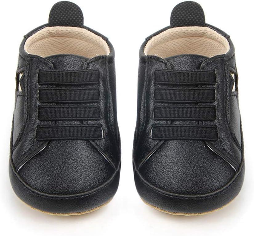 6-9 mois et 9-12 mois BOBORA Chaussures Filles en Cuir Souple Chaussures /à Bascule Casaul /à Motifs Mignons d/étoile pour 0-6 mois Basket Bebe