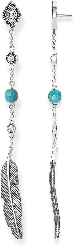 Thomas Sabo Glam & Soul H1911-646-17 - Pendientes para mujer, plata de ley 925 con circonitas blancas y turquesas