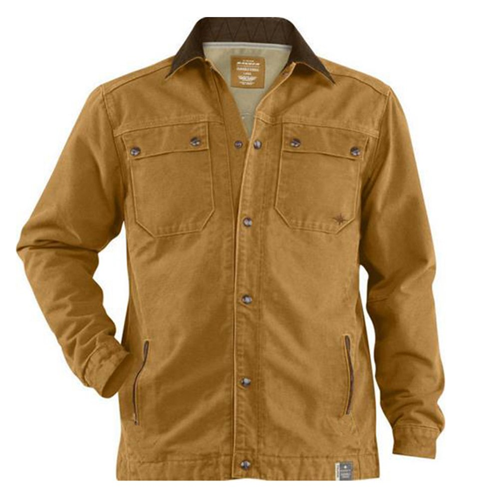 Amazon.com: Polaris Duck Brown Ranger Canvas Work Coat Jacket ...