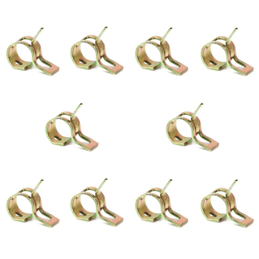 10 x Clip à Ressort Colliers de Serrage pour Tuyau de Carburant Conduite d'eau Tube de l'air Diamètre 6mm Generic