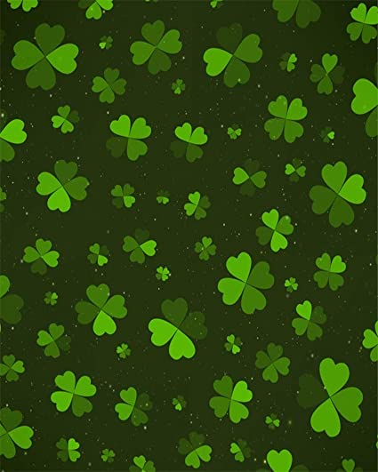 Amazoncom Rbabyphoto Lucky Irish Shamrock Backdrop 6x9ft