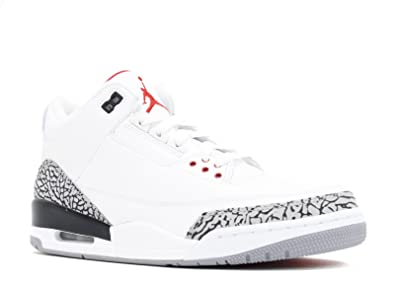 Amazon.com | Nike Men's Air Jordan 3 Retro White Cement White ...