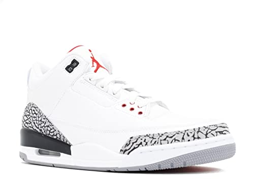 0dafd1a33b2038 Jordan Nike Air 3 Retro III 2011 White Red Grey Mens Basketball Shoes 136064