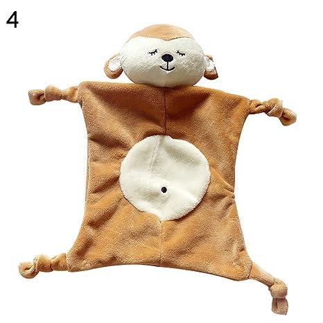 Cplapll Regalos para Navidad Año, Toalla Calmante Bebé Educativo Cartoon Panda Conejo Elefante Mono Peluche