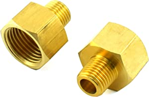 SDTC Tech 2-Pack Brass Pipe Fitting 1/4