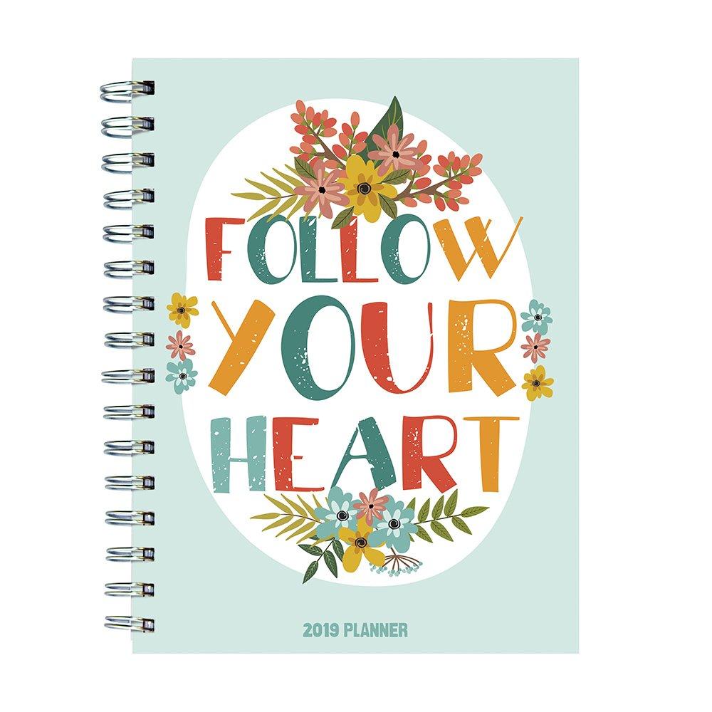 2019 Heart Medium Weekly Monthly Planner