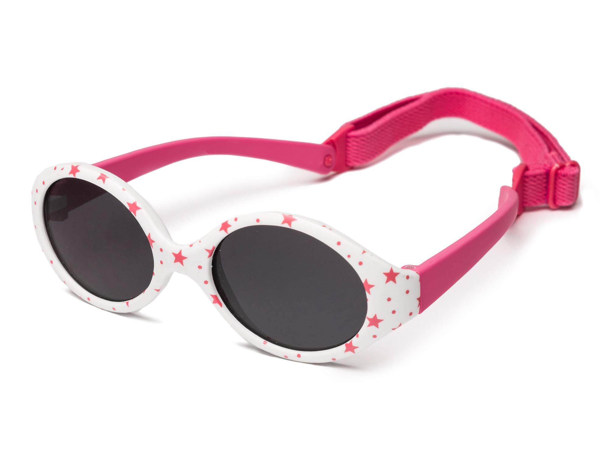 e3d604ce7 Kiddus Gafas de sol bebe para niños y niñas, TOTALMENTE FLEXIBLES, a partir  de 6 meses, 100% protección rayos UVA y UVB, seguras, confortables y muy ...