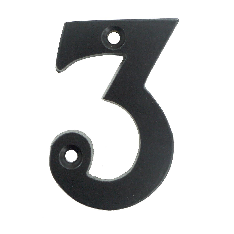 Black metal door number 3