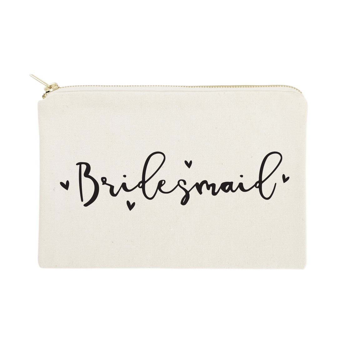 The Cotton & Canvas Co. Bridesmaid Wedding Cosmetic Bag, Bridal Party Gift and Travel Make Up Pouch