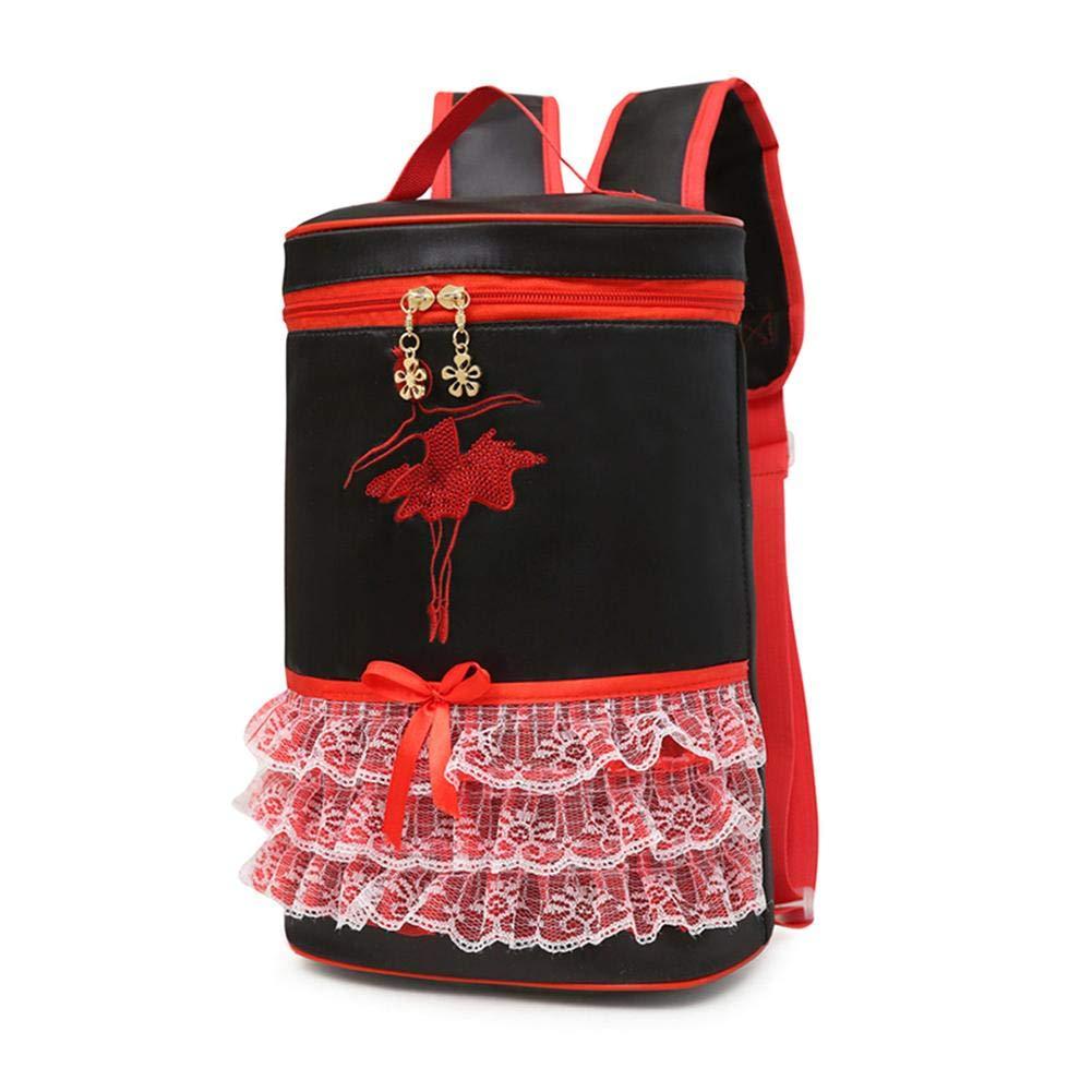 Fancylande Sacchi di danza balletto per ragazza, Zaino Zaino Latina ragazza Borsa a tracolla borsa di danza portatile per bambini Rosa