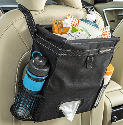 High Road Puff'nStuff Car Trash Bag and Back Seat Organizer (Black) -