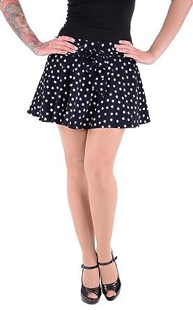 Cute 50s Polka Dots Retro Falda/Rock - Azul Oscuro Rockabilly ...