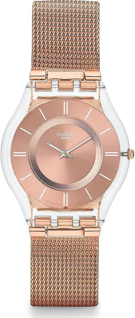 Swatch SFP115M - Reloj analógico de cuarzo para mujer con correa de metal