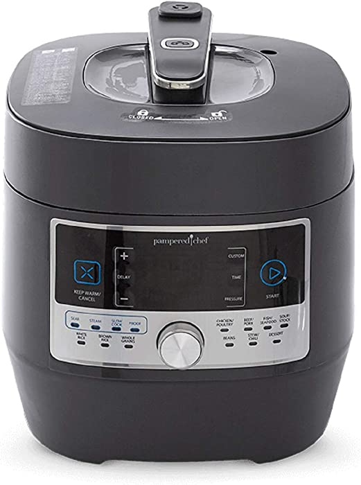 Pampered Chef 16-in-1 Pressure Cooker - #100011 Programmable Electric Multi Cooker | Rice Cooker | Saute | Steamer | Warmer | Cake Maker (6 Quart)