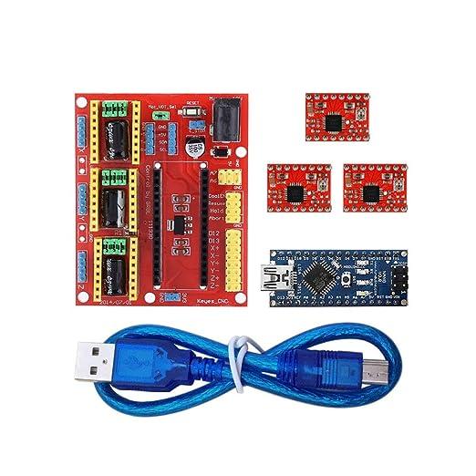 Kit de Impresora 3 D for Arduinos CNC Escudo V4 + Nano 3.0 + ...
