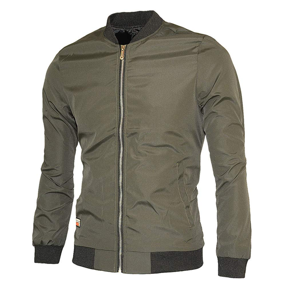 Sumen Winter Mens Fashion Bomber Jacket Slim Fit Active Casual Military Outwear