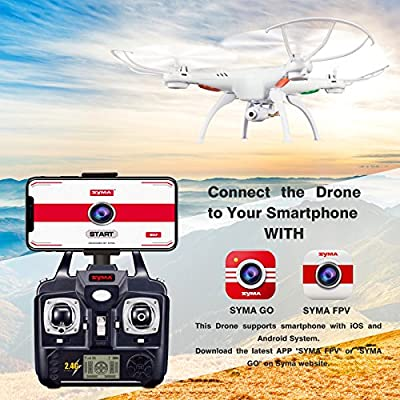 Cheerwing Syma X5SW-V3 FPV Explorers2 2.4Ghz 4CH 6-Axis Gyro RC Headless Quadcopter Drone UFO with HD Wifi Camera (White) from Cheerwing