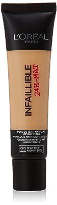 L'Oréal Infalible 24H Mate Base, Tono: Tono 022