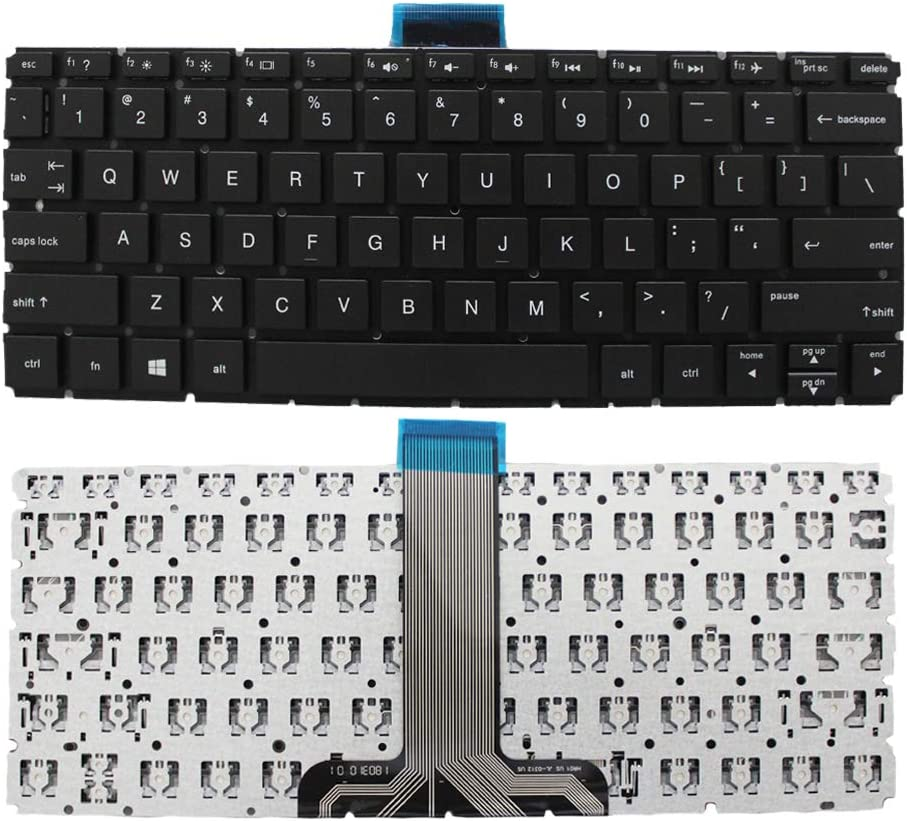 GinTai US Keyboard Replacement for HP Pavilion 11 x360 11-u000 m1-u000 M1-U001DX US Stock