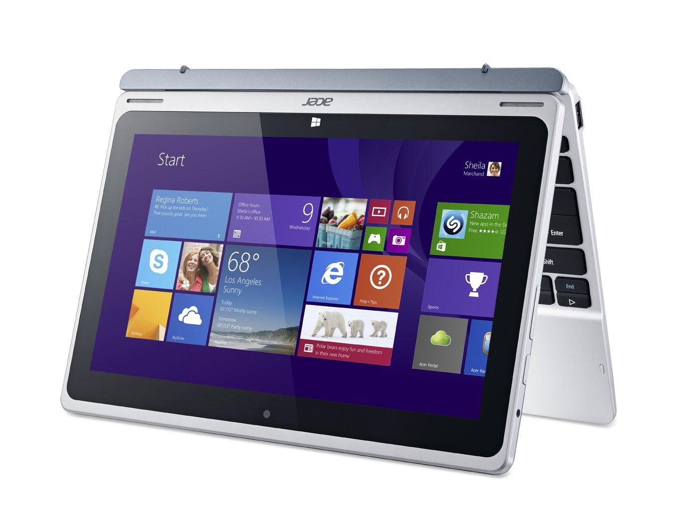 Acer Aspire Switch 10 SW5-011-11JE - Ordenador portátil (Híbrido (2-en-1), Touchpad, Windows 8.1, Polímero de litio, 32-bit, Plata): Amazon.es: Informática